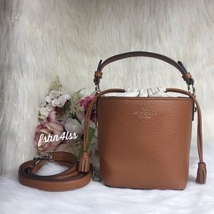KATE SPADE HAYES BROWN BUCKET BAG